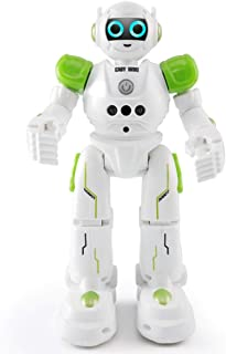 yeesport Kids RC Robot Toy Funny Programmable Smart Robot Toy for Kids Rc Robot Toys for Kids Plastic Green & White