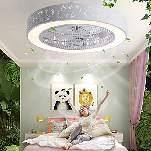 YUNLONG Moderno Silencioso Ventilador Techo con Luz Led, Regulable con Mando Distancia Temporizador Lamparas Ventilador De Techo Salon 3 Velocidades Invisible Ventilador Techo Dormitorio