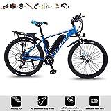 YXYBABA Bicicleta Eléctrica De Montaña 350W, Batería Batería Litio 36V 10Ah Bikes Bicicleta Eléctrica E-MTB 29', Micronew 24Vel, Frenos Hidráulicos,Azul