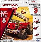 MECCANO Cars, Multimodels, Rescue Squad 3 Model Set, Colore Black, Metallic, Red, 3 Modelli, 6026714