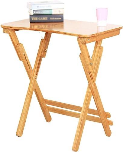 online al mejor precio BJYG Mesa portátil portátil portátil Mesa de Estudio de Altura Ajustable de bambú para Niños Escritorio portátil (Tamaño  Borde de Arco 80  50 cm)  comprar barato