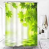 TopTree Duschvorhang Anti-Schimmel & Wasserabweisend Shower Curtain mit 12 Duschvorhangringen 3D Digitaldruck 180x200cm - Pflanzen & Blumen