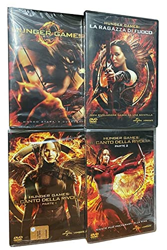 trilogia THE HUNGER GAMES + LA RAGAZZA DI FUOCO + IL CANTO DELLA RIVOLTA serie completa 4 dvd