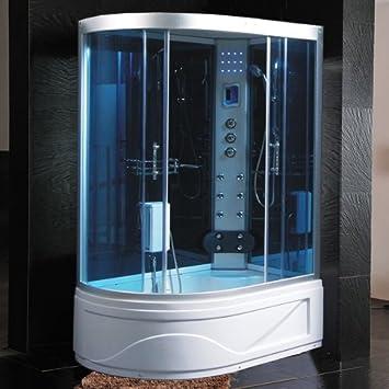 Bagno Italia Box Idromassaggio Cabina Doccia Multifunzione 130x85cm Versione Sinistra Con Vasca Bagno Turco Sauna I Amazon It Fai Da Te