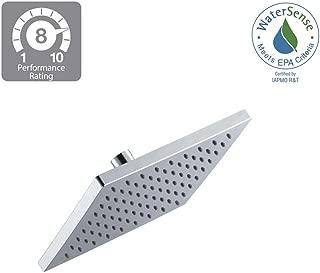 Modern 1-Spray 8 in. Square Raincan Fixed Shower Head in Chrome