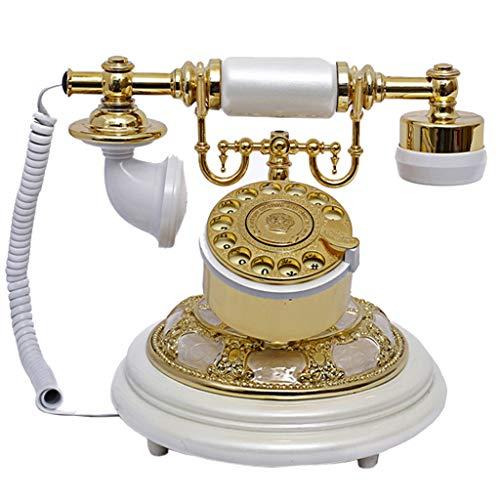 VERDELZ Classic Resin Retro Vintage TeléFono Rotary Dial TeléFono Fijo Tocadiscos Retro LíNea Terrestre TeléFono De La Casa Y La Oficina Sala De Estar En Casa DecoracióN