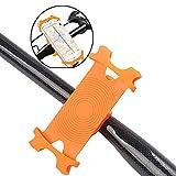 Silikon-Fahrrad-Telefon-Halter-Fahrrad-Telefon-Halter für Stem Montag 4' bis 6' Bildschirm Bike Lenker einstellbar (orange) 1Pc