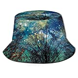 Inaayayi Gorra de pescador para mujer, hombre, adolescente, sombrero de sol, 1 bosque místico celestial, Talla única