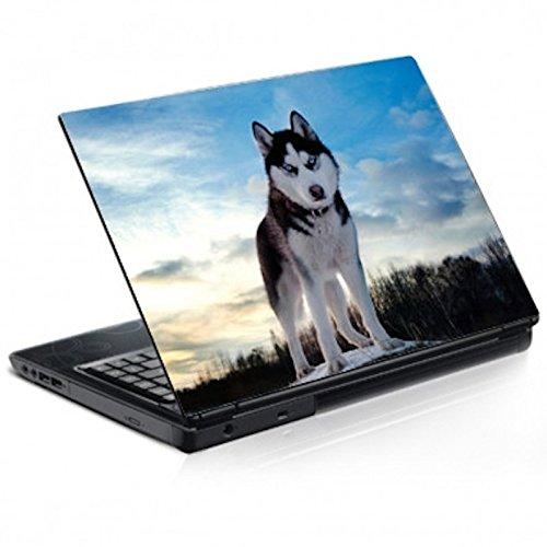 Aufkleber für Laptop, Deko, Hund, Husky, Ref. 038 – PC 15 Zoll H 25 x B 32 cm
