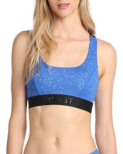 2(X)IST Women's Micro Sports Bra, Blue Mini Print, XS