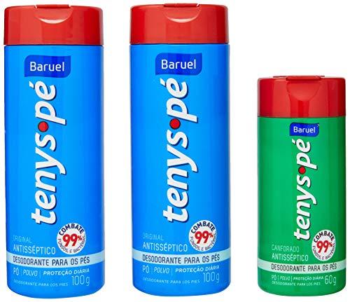 Tenys Pé, Desodorante pas os Pés, pacote de 3 unidades