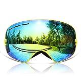 GANZTON Skibrille Snowboard Brille Doppel-Objektiv UV-Schutz Anti-Fog Skibrille Für Damen Und...