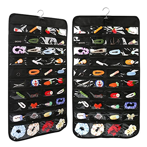 80 Pockets – Hanging Jewelry Organizer, Double-Sided Jewelry Storage for Earings, Necklaces, Bracelets, Rings, Storage, Closet, Jewelry Hanger