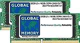 Global Memory - Kit de Memoria SoDimm RAM DDR4 (PC4-19200) de 32 GB (2 Unidades de 16 GB), 2400 MHz, 260 Pines, para Intel iMac Retina 5K de 27 Pulgadas (de 2017)