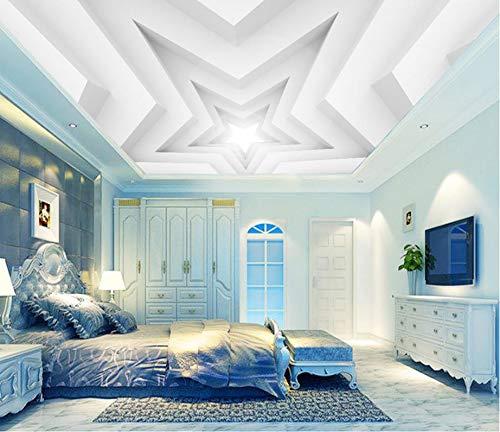Lxsart 3D muurschildering behangpapier pentagram woonkamer slaapkamer plafond achtergrond geluidsisolatie voor muren 3D 400 x 280 cm.
