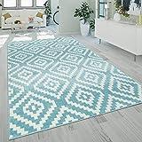 alfombra pelo corto azul