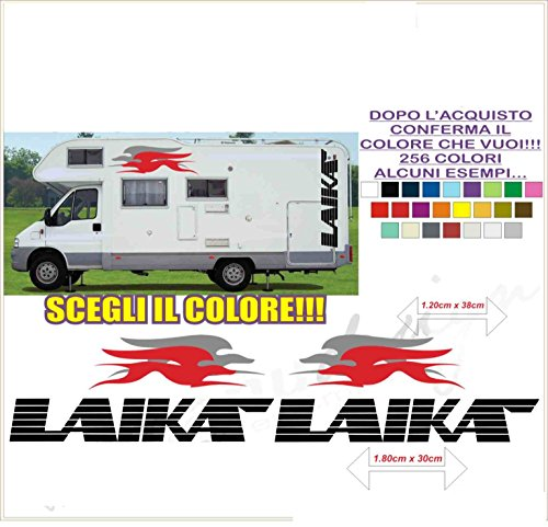 Kit adesivi decal stickers CAMPER LAIKA (ability to customize the colors)