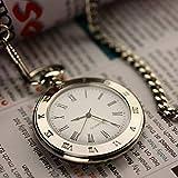 Relojes de bolsillo Reloj de bolsillo del reloj del pecho Enviar carácter creativo reloj de bolsillo de la manera romana retro del cuarzo del reloj de bolsillo del reloj Relojes Fob ( Color : Gold )