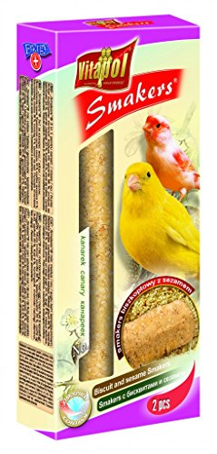 Vitapol smaker Treat Sticks für Kanarienvögel 2Pack (Keks- und Sesam)