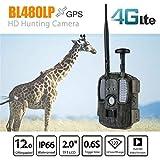 KTYX 4G野生動物カメラ12MPip66防水1080 p赤外線ナイトビジョン120°広角カメラFHDトラッキングシーンキャプチャ用屋外またはホームセーフティ検出