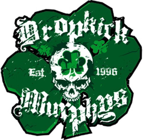 "DROPKICK MURPHYS SHAM SKULL, Officially Licensed Original Artwork, Premium Quality, 4"" x 4.25"" - Sticker Aufkleber DECAL"
