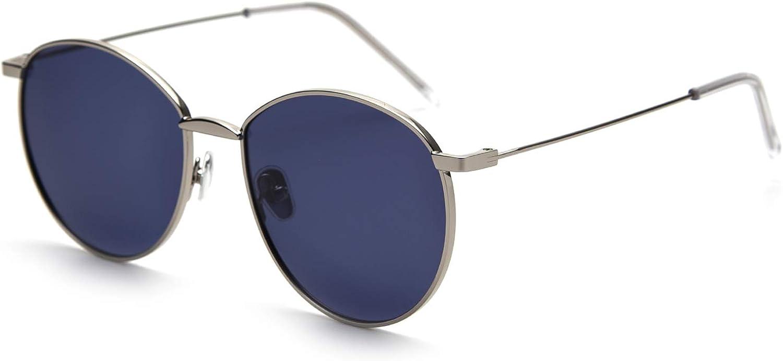 FAGUMA Small Round Polarized Sunglasses for Women Men Metal Frame 100% UV Predection