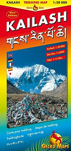 Kailash - 1/50.000: Kailash 1:50000, Darchen 1:4000, Tibet 1:12 Mill. Bilingual Map: Tibetisch-Römisch. Legende: Engl., Dt., Ital., Franz., Tibet., Japan
