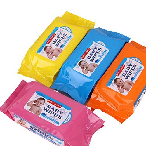 N-B Toallitas de Limpieza para bebés 80 Piezas de toallitas húmedas para Manos y Boca de bebé Toallitas Desechables para niños Papel