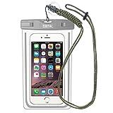 EOTW IPX8 Wasserdichte Handytasche, Wasserdichte Hülle Kompatibel mit Samsung Galaxy S9 Plus/A5/A3/J3, Huawei P Smart, Sony Xperia XZ2 Compact Smartphone bis 16,51 cm (6,5 Zoll), Grau