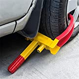 Blackpoolal Universal Heavy Duty Car Tyre Lock Caravan Security Locking Wheel Clamp Anti Theft Trailer Auto Tyre Lock