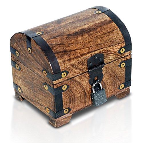 Brynnberg Caja Madera candado Cofre Tesoro