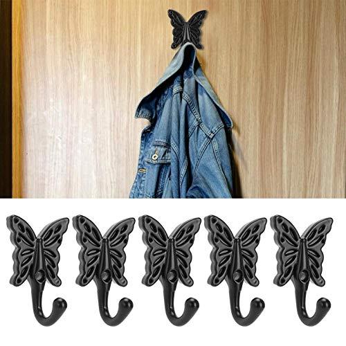 KUIDAMOS Colgador Individual de Pared Duradero y Oxidado 5 Ganchos de Estilo Europeo para baños, armarios para oficinas, dormitorios para Colgar artículos organizados