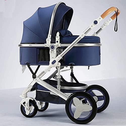 YZPTD Cochecitos de Lujo Convertibles compactos, Cochecito de Cochecito, Carro de Cochecito portátil con arnés de 5 Puntos y Canasta de Alta Capacidad para bebés y niños pequeños (Color : H)