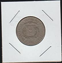 1986 DO National Arms Above Date 25 Centavos Choice Extremely Fine