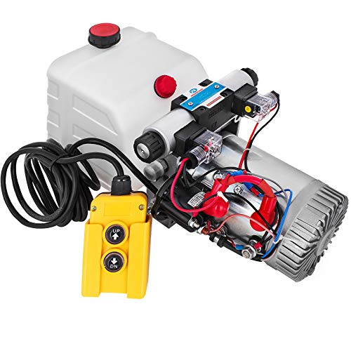 potente para casa Bomba hidráulica VEVOR 4.5L, 12VDC cilindro hidráulico bomba hidráulica de doble efecto …