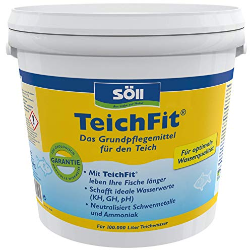 Söll 15169 TeichFit Grundpflegemittel für den Teich 10 kg  - ganzjährig anwendbarer Wasseraufbereiter Stabilisator für Teichwasser im Gartenteich Fischteich Koiteich Schwimmteich