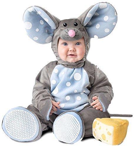 Deluxe Baby Mouse Vestito Include Tuo piccolo uno sarà il più simpatico topo in casa con questa tuta pois interno foderato.  tuta  cappuccio  giocattolo morbido formaggio  coda staccabile  stivaletti Nuovissimo IT include a Big BLOCCO DI GIOCO FORMAG...