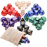 H&S 42pcs DND Dice 6 Sets Dungeons and Dragons Dice Set 7 Sided Polyhedral D&D RPG MTG Table Game