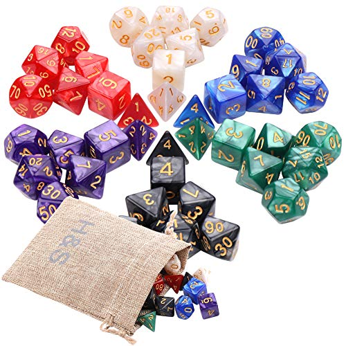 H&S 42pcs DND Dice 6 Sets Dungeons and Dragons Dice Set 7 Sided Polyhedral...