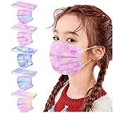 DressLksnf 50 Stück Mund-Nasen-Masken für Kinder ATEMSCHUTZMASKE FÜR Kinder SCHACHTEL Behelfsmaske Kinder Mundbedeckung Jungen und Mädchen Mund Nasen Maske (Z)