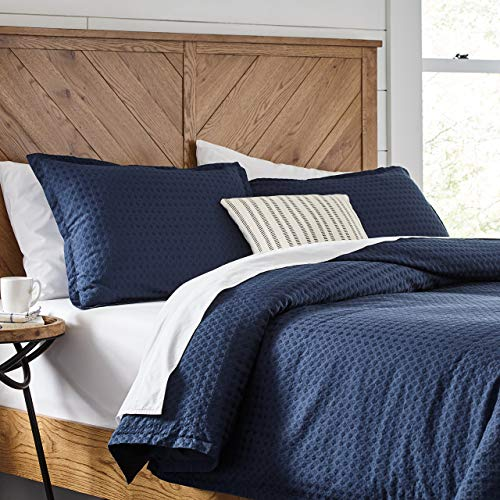edredón azul fabricante Stone & Beam
