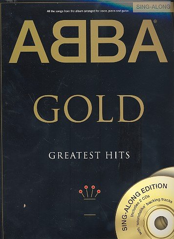 ABBA Gold (+ 2 CDs) Songbook For Piano/Vocal/Guitar – de todas las Canciones del Best of Albums la legendaria banda sueca Arreglados para Piano/voz y guitarra – Partituras/sheetmusic