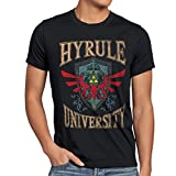 style3 University of Hyrule Camiseta para Hombre T-Shirt, Talla:L;Color:Negro