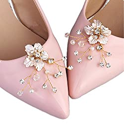 Crystal Beads Flower Rhinestones Shoe Clips Buckles Decorations