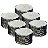 Colorfullife 6 Pack Premium Humidifier Filters Replacement for Holmes Filter A, HWF62, HWF62S, for Sunbeam Cool Mist Humidifiers SCM1100, SCM1701, SCM1702, SCM1762, SCM2409