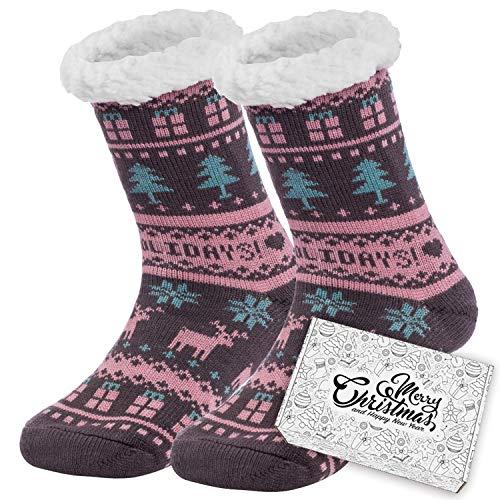 Ferocity Mujer Calcetines térmicos ricos en algodón para resbalón para el invierno Modelo 6 [033]