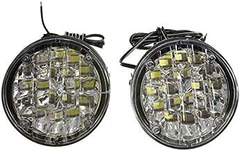 12 فولت 18 LED سيارة دائرية قيادة نهارية للجري مصباح ضوء DRL الضباب أبيض فاتح LED سيارة في الطرق الوعرة