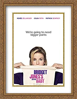 Bridget Jones's Baby 28x36 Double Matted Large Large Gold Ornate Framed Movie Poster Art Print