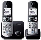 Panasonic KXTG6812EB Twin DECT Phone  Black/Silver