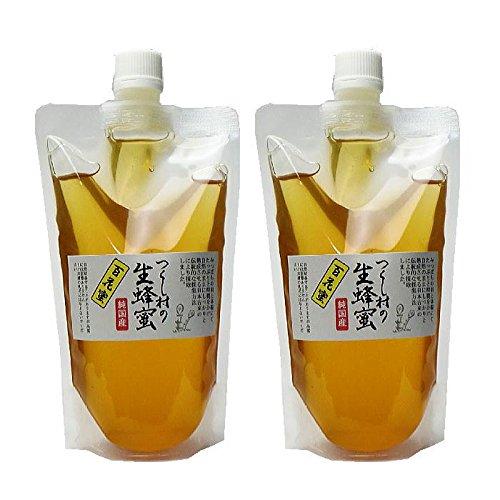 純粋国産蜂蜜 つくし村の生蜂蜜 百花蜜900g(スタンドパック入り450g×2パック)